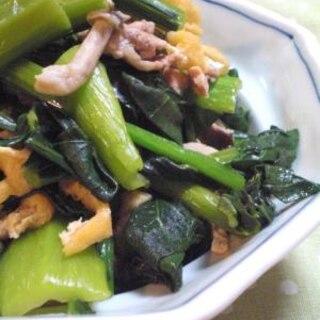 めんつゆだけで☆小松菜と豚肉のさっと煮