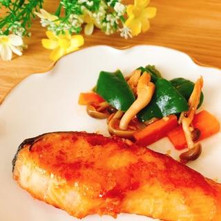 鮭のガーリックバター醤油ソテー✧˖°໒꒱