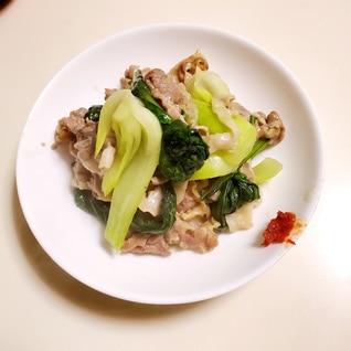 豚肉とチンゲン菜の中華炒め♪
