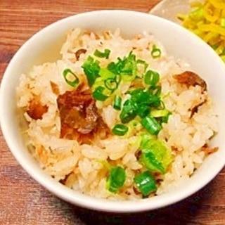サバ缶と生姜☆炊き込みご飯