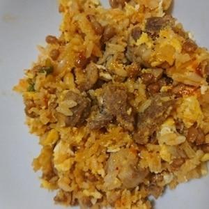 スタミナモリモリ~♪ 納豆入りキムチチャーハン☆
