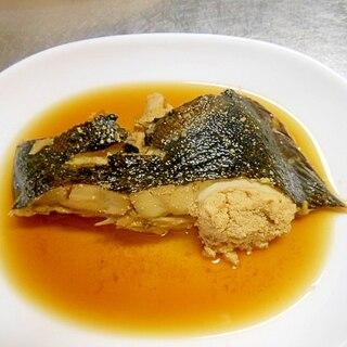めんつゆで☆黒カレイの煮魚☆