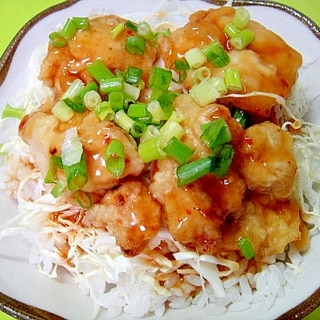ピリ辛鶏天丼