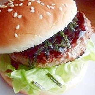 照り焼き和風ハンバーガー