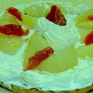 七五三のお祝いに、ラ・フランスのケーキ召し上がれ