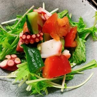 地中海式☆タコと夏野菜のマリネ