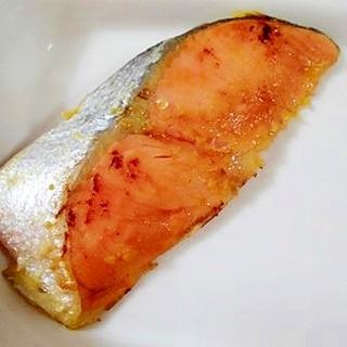 焦げ付かない♪ フライパンで鮭の西京漬け