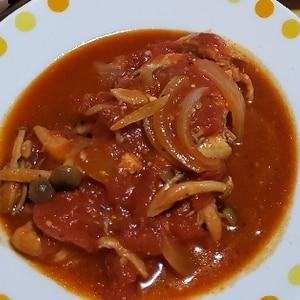 炊飯器で一発!簡単激うまチキンのトマト煮込み