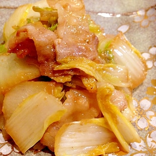 白菜と豚肉の味噌炒め