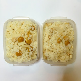 筍、銀杏、鶏肉の炊き込みご飯