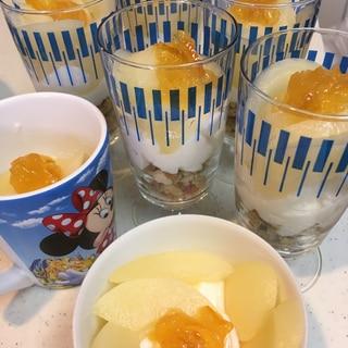 業務スーパーの手軽なレアチーズを使って♡パフェ