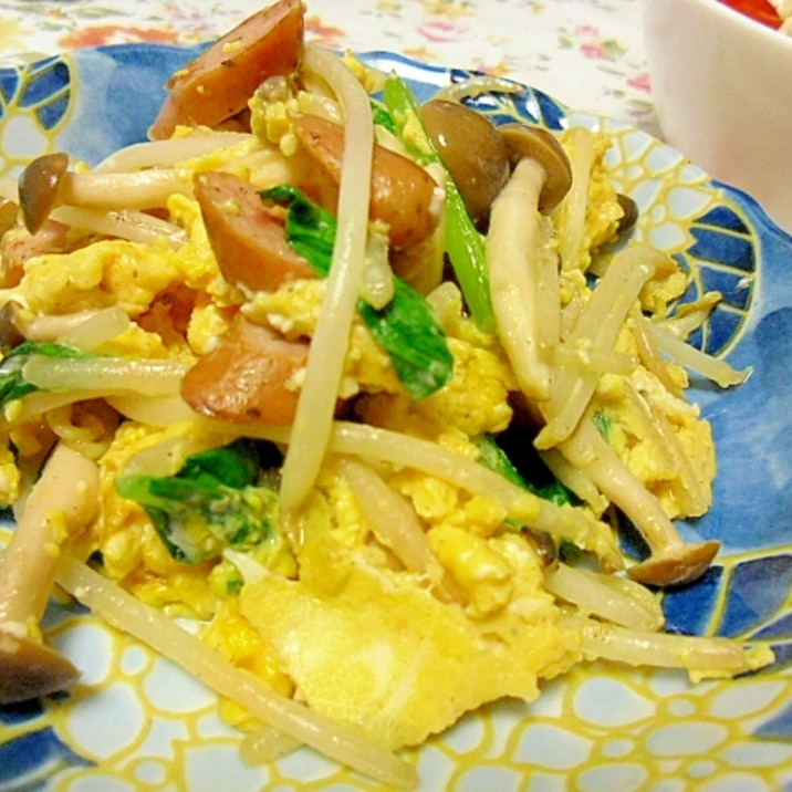 野菜と卵のシンプル塩炒め