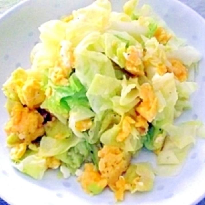 炒め キャベツ 卵