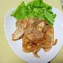 林檎と豚バラ肉の炒め物