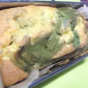 抹茶のマーブルパウンドケーキっ♪