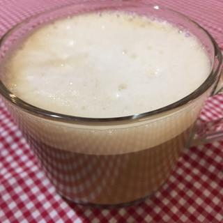 きなこ入りフォームミルクのせコーヒー♡