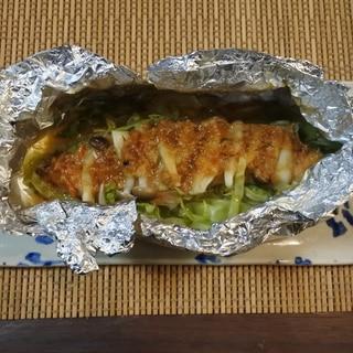 【アルミで簡単♪】北海道名物 鮭のちゃんちゃん焼き
