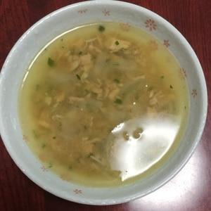 ツナとオニオンのコンソメスープ