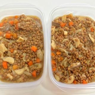 (豆) レンズ豆の和風煮込み