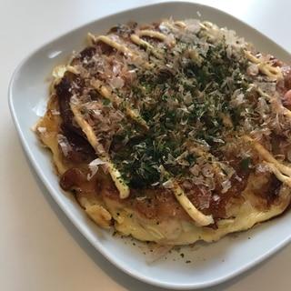 お好み焼き( ´ ▽ ` )  キャベツ大量消費!
