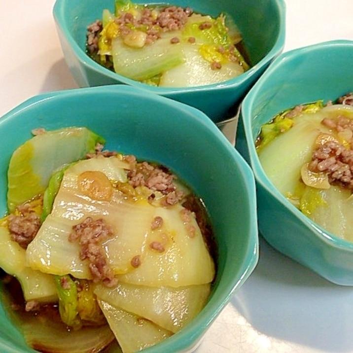 簡単中華惣菜☆白菜とひき肉のニンニク炒め