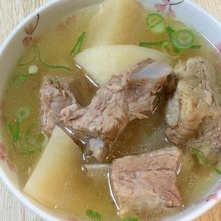 炊飯器料理、スペアリブの大根スープ