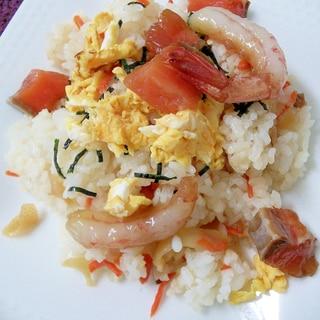 鮭と甘エビのちらし寿司
