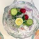胡瓜、ラディッシュ、おかひじき、しらすの和え物
