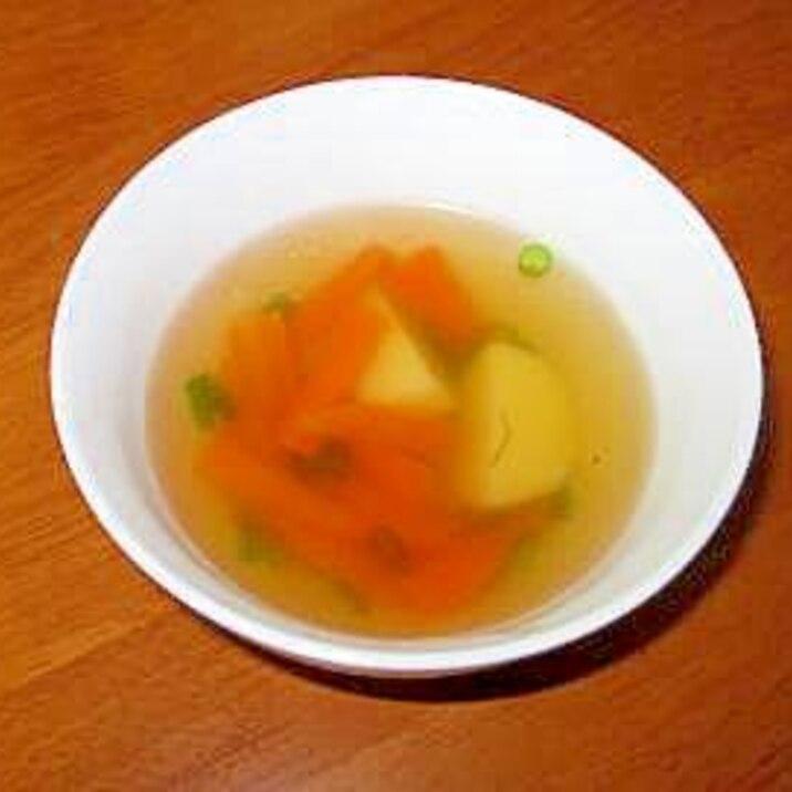 ★簡単★にんじんとじゃがいものコンソメスープ★