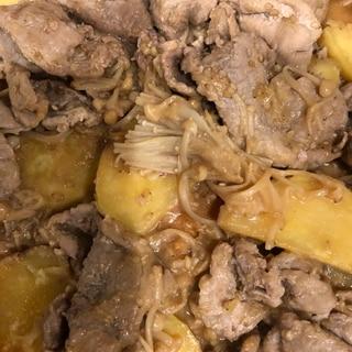 豚肉とさつま芋の味噌煮❣️