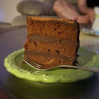 市販のスポンジで♪簡単生チョコケーキ
