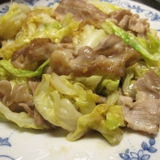 豚バラとキャベツのニンニク炒め