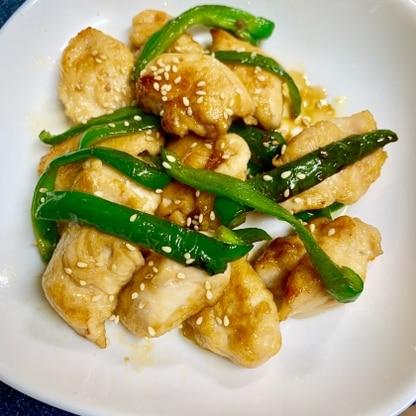お弁当の惣菜に作ってみました。ピーマン投入のタイミング、普段は生を肉の後からでしたがこちらの手順で。タレも普段の調味料で出来上がり、とても助かりました(^^)