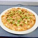 あさりとカニマヨのピザ