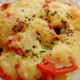 トマト・ジャガイモ・茄子のオリーブオイルチーズ焼き