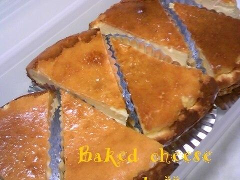 簡単 ベイクド チーズ ケーキ