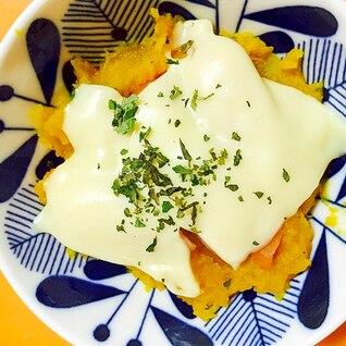 ひょうたんかぼちゃのグラタン風チーズ焼き