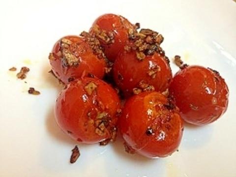 お弁当に、おつまみに。ミニトマトのガーリック炒め