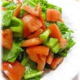 不思議な食感のアイスプラントとトマトのサラダ