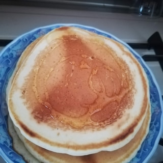 おからパウダーと米粉のパンケーキ