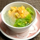 朝ごはんにおすすめ❤️卵とキャベツの春雨スープ