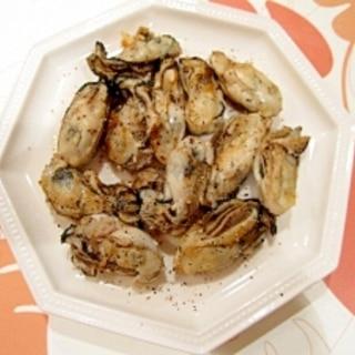 蒸し牡蠣のオリーブオイル焼き♪