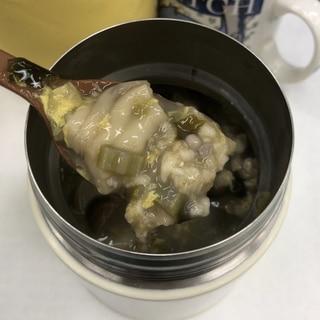 しめじたっぷり卵スープオートミール約150kcal