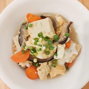 こうや豆腐の卵とじ