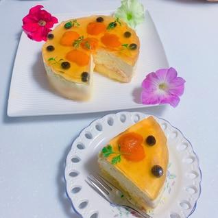 あんずのレアーチーズケーキ
