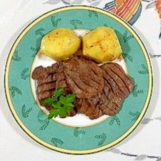 味つき牛タンとじゃが芋のソテー