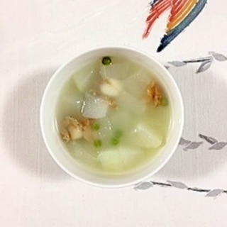 冬瓜とベビー帆立のスープ