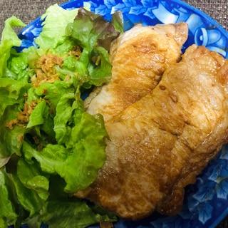 キャンプ飯♪鉄板レシピ♪三元豚ブロックのソテー