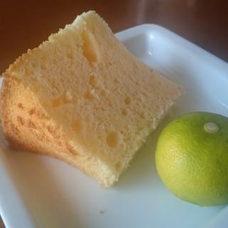 かぼすのシフォンケーキ