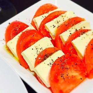 トマト×チーズ簡単すぎるおつまみ